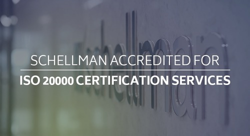 Schellman Accredited for ISO 20000 Certification Services