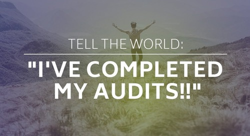 "Tell The World: ""I've Completed My Audits!!"""