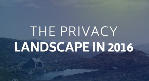 The Privacy Landscape in 2016