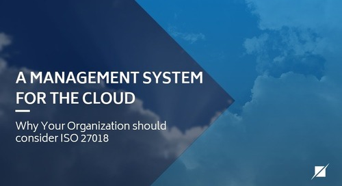 A Management System for the Cloud – Why Your Organization Should Consider ISO 27018