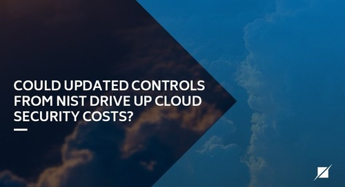 Could updated controls from NIST drive up cloud security costs?