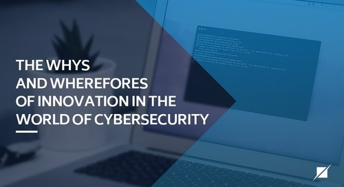 The Whys and Wherefores of Innovation in the World of Cybersecurity