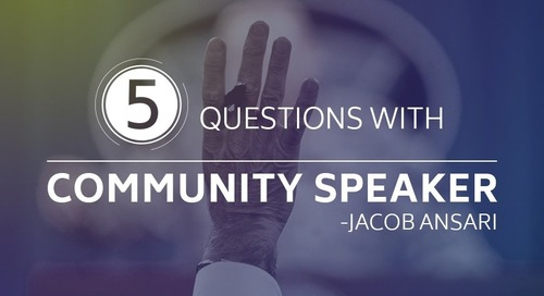 5 Questions with Community Speaker - Jacob Ansari