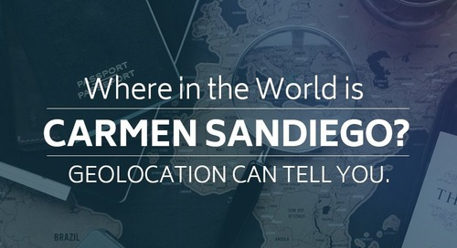 Where in the World is Carmen Sandiego? Geolocation can tell you