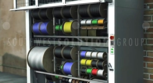 Vertically Store & Dispense Reels of Cables & Spools of Wire Efficiently