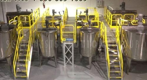 Equipment Crossover Bridges | Modular Walkways & Work Platforms in Warehouses