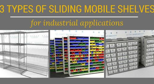 3 Types of Sliding Mobile Shelves for Industrial Applications