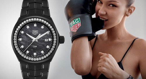 Tag Heuer Link Timepiece Inspired by Bella Hadid
