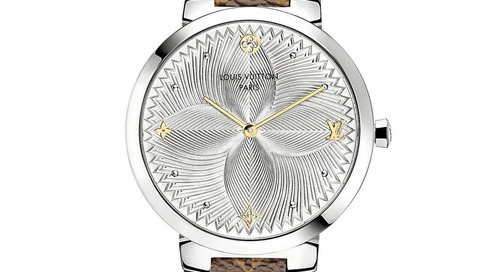 Louis Vuitton Adds Slim Metallic Flower to Tambour Collection