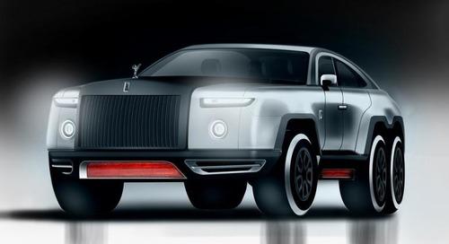 Rolls-Royce Wraith-Based SUV a 6-Wheeled Monster