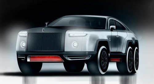 Rolls-Royce Wraith-Based SUV a 6-Wheeled Monster