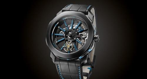 The Octo Tourbillon Sapphire Timepiece by Bulgari