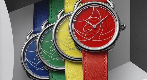 Hermes' Gives Arceau Casaque Timepieces a Vivid Twist