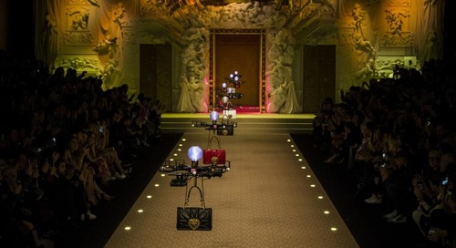 Dolce and Gabbana Drones Sashay Down Runway in Milan