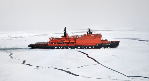 Great Escape: A North Pole odyssey on the ice-breaker 50 Years of Victory | The Telegraph