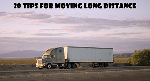 20 Tips for Moving Long Distance: Moving Checklist