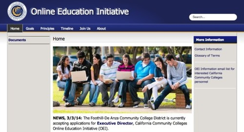 An integrated online learning system for California's community colleges
