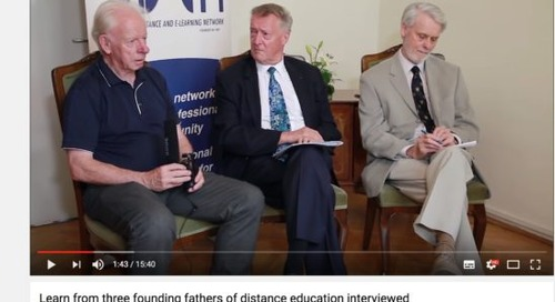 Who are the founding fathers of distance education?