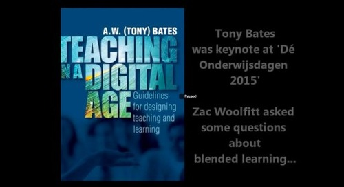 How to get started in blended learning: an interview with Tony Bates