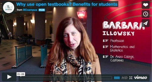 Update on British Columbia's open textbook project
