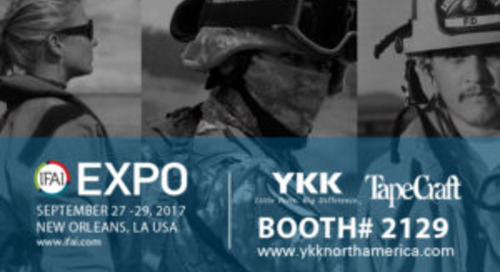 Join YKK (U.S.A.) Inc. and Tape Craft Corporation at the IFAI Expo!