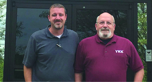 David Kelly with YKK (U.S.A.) Inc. Snap & Button Products follows in his father's footsteps