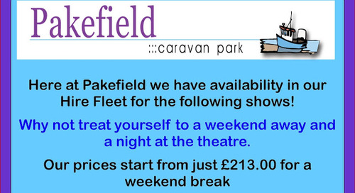 Upcoming Events at the Marina Theatre, Pakefield.