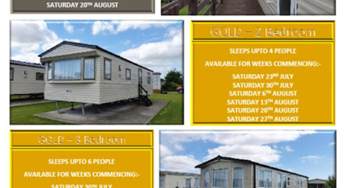 Vacancies During July & August @ Pakefield Caravan Park