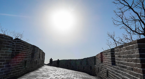 Naik Tegang, Turun Lemas di Mutianyu, Great Wall of China