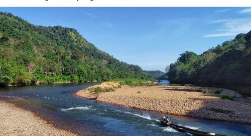 Mengeksplore Sungai Subayang di Kampar Kiri Hulu Riau.