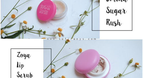 Zoya Cosmetics Lip Scrub Sugar vs. Emina Sugar Rush Lip Scrub