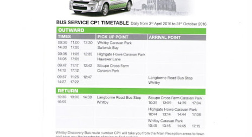 New for 2016 ****** Bus service