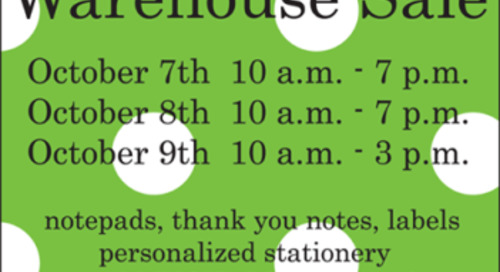 Everything you need to know about our annual warehouse sale!