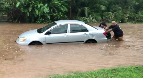Residents capture heavy flooding in Merizo