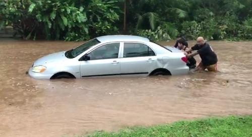 Residents capture heavy flooding in Merizo
