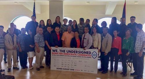 Democrats sign unity pledge