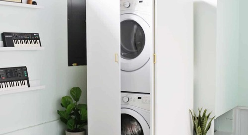 Hidden Washer and Dryer Cabinet