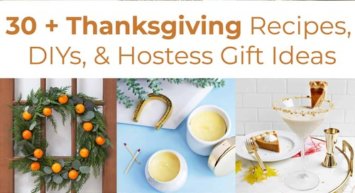 30+ Thanksgiving Recipes, DIYs, & Hostess Gifts
