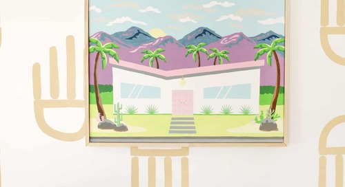 Oversized Palm Springs Paint-By-Numbers DIY!