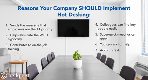 Comment on How Hot Desking Will Build Your Company by Finding Balance - Part 2:The Workplace [+ Workplace Strategies Infographic]   AgilQues