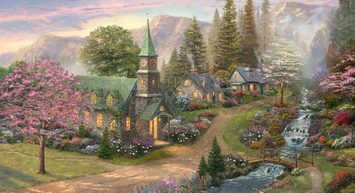 New Release: Sunday Morning Chapel – Thomas Kinkade Studios