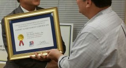 BHN Presented With USDC Export Achievement Award