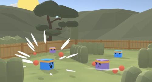 ML-Agents plays DodgeBall