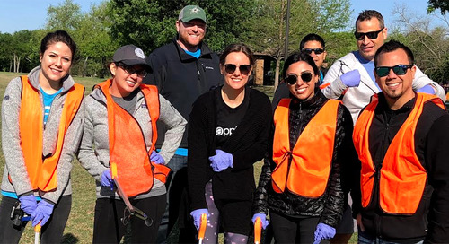 AppFolians in Dallas Give Back to Willowcreek Park