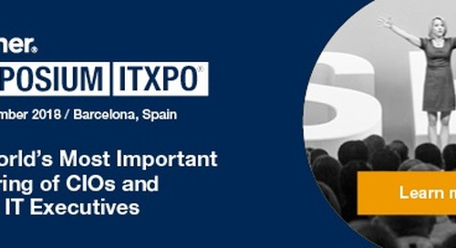 Mark your calendars for November 4th! Gartner Symposium ITxpo 2018 is coming!