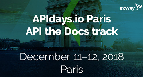Join Axway for APIdays in Paris on December 11-12, 2018