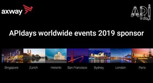 APIdays 2019: Axway a proud global sponsor