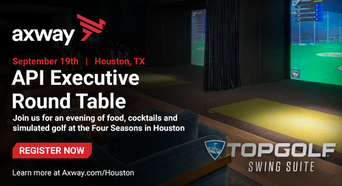 Axway accelerates digital transformation with APIs in Houston on September 19, 2019. Come join us!