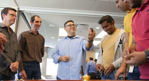 Drinking our own eggnog: Axway holiday party features mobile app