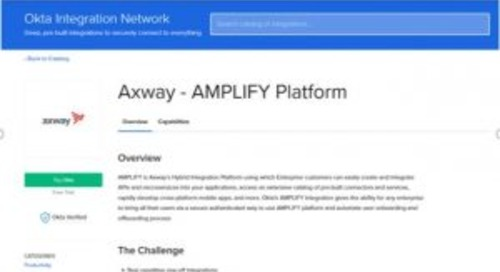 Amplify is Okta IDP Verified